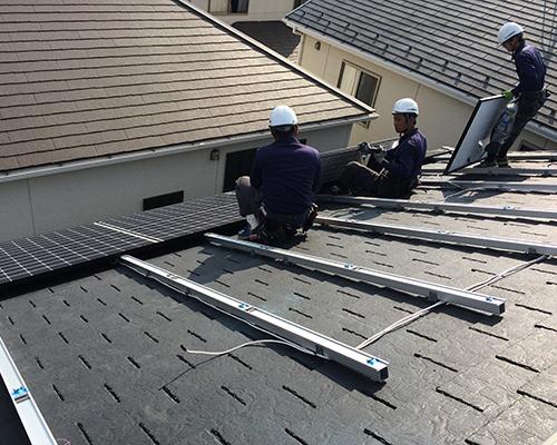 7.パネル取付|住宅用太陽光発電システム|株式会社 大木無線電気
